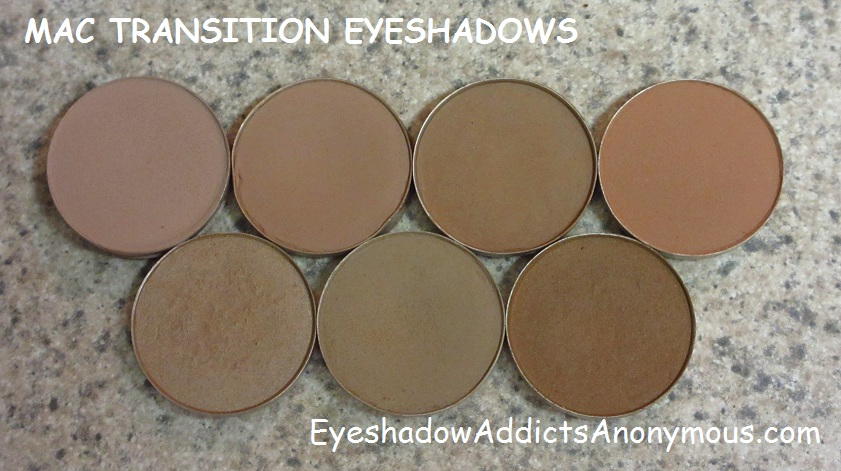Eyeshadow Addicts Anonymous A Guide To Mac Transition Eyeshadows